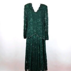 Vintage Lillie Rubin beaded gown dress